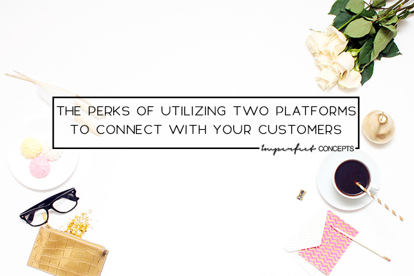 Using two different website platforms will help you bring in new customers. | Imperfect Concepts #blogging #smallbusiness #advice