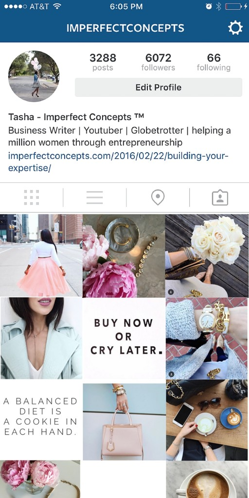 How to visually layout your product based company instagram. | Imperfect Concepts #socialmedia #instagram #blogging #advice