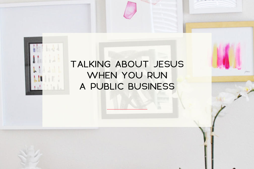 Why I made the personal decision to keep Jesus front and center with my business. | Imperfect Concepts #smallbusiness #God #Jesus