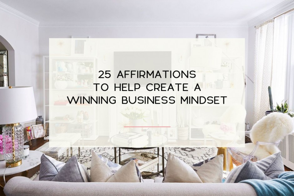 5 Sets of affirmations to help you establish a positive mindset regarding your small business. | Imperfect Concepts #smallbusiness #affirmation #lawofattraction