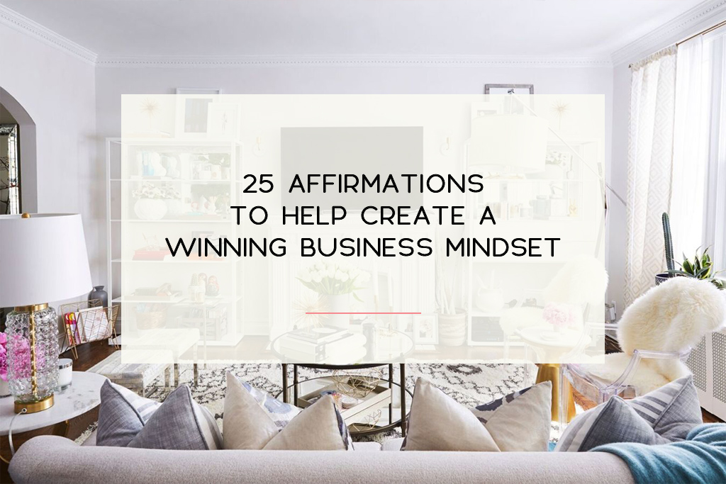 5 Sets of affirmations to help you establish a positive mindset regarding your small business.   Imperfect Concepts #smallbusiness #affirmation #lawofattraction