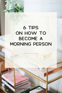 Very practical tips on how you can wake up with enthusiasm each day.   Imperfect Concepts