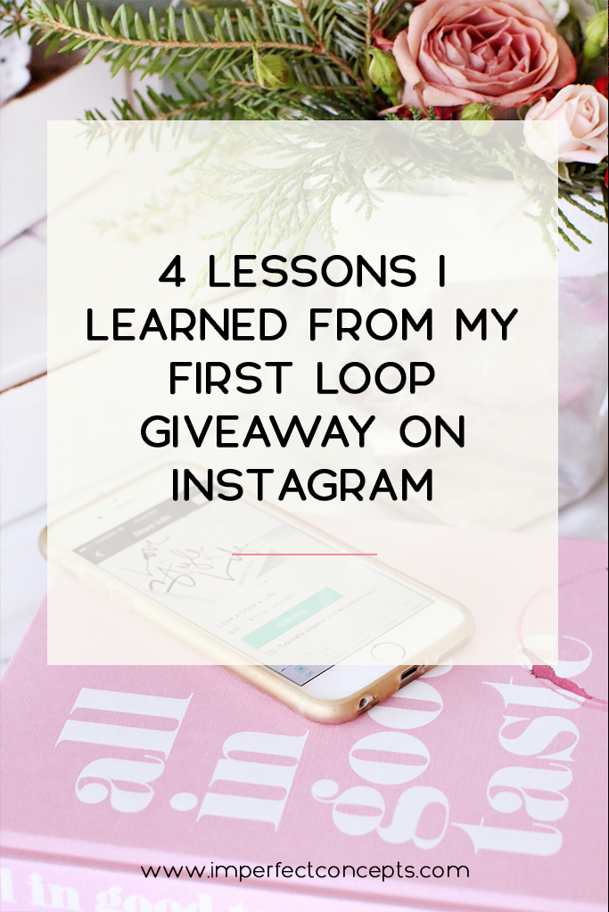 Sharing insider information on all things instagram loop giveaways. | Imperfect Concepts #instagram #loopgiveaway #blogger #smallbusiness