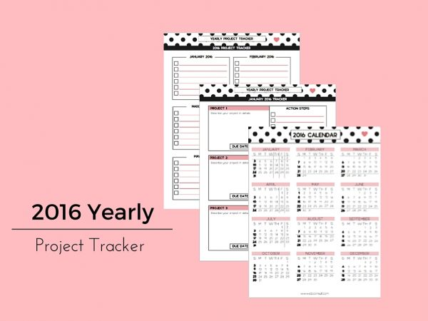 2016 Yearly Project Tracker - PD