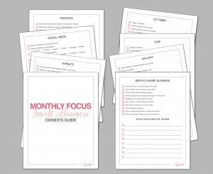 Monthly Focus Small Business Owner's Guide