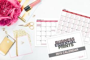 2015 Business Goal Calendar