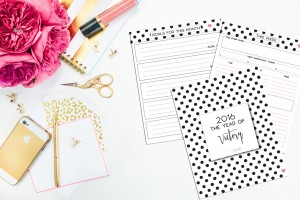 Polka Dot with Heart Planner