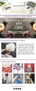 email marketing template example from Imperfect Concepts