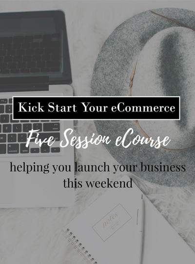 Kick Start Your eCommerce Website Graphic