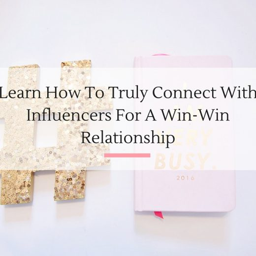 If you really want to connect with the top influencers in your industry these four tips are a must. | Imperfect Concepts