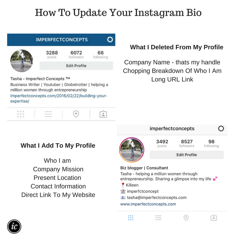 Insight on how to update and polish your business instagram account. | Imperfect Concepts