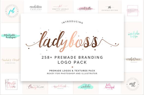 ladyboss-premade-branding-logo-pack