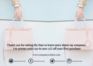 How to design the back of a first purchase card that helps you bring in new customers. | Imperfect Concepts