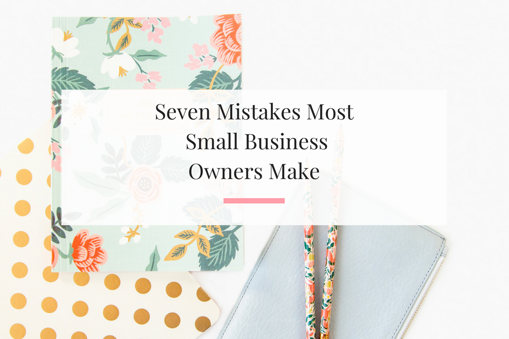 Launched my first business seven years ago. Took me four years to make six figures. Im sharing the mistakes that I made and ones business owners still make. | Imperfect Concepts