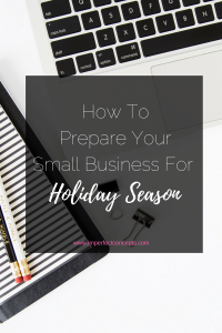 Four ways to get your small business ready to for this upcoming holiday season. | Imperfect Concepts