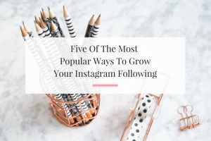 Outlining five of the best ways to grow your instagram followers. No credit card needed.   Imperfect Concepts