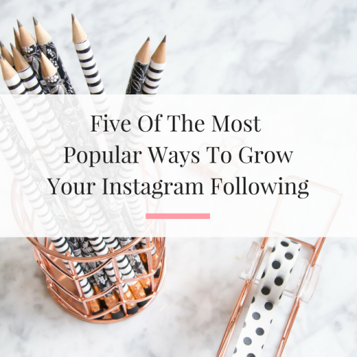 Outlining five of the best ways to grow your instagram followers. No credit card needed. | Imperfect Concepts