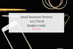 Breaking down how to handle your fiscal budget in 2017 as a small business owner or creative.   Imperfect Concepts