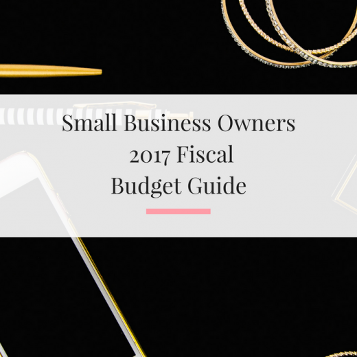 Breaking down how to handle your fiscal budget in 2017 as a small business owner or creative. | Imperfect Concepts