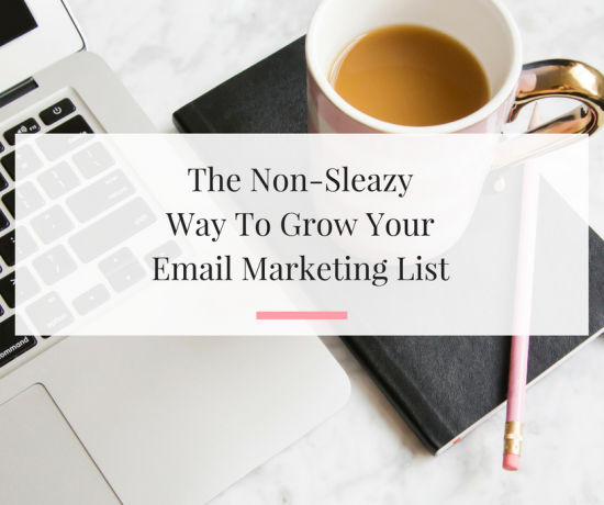 Six tips to help you grow your email marketing list for your small business. | Imperfect Concepts