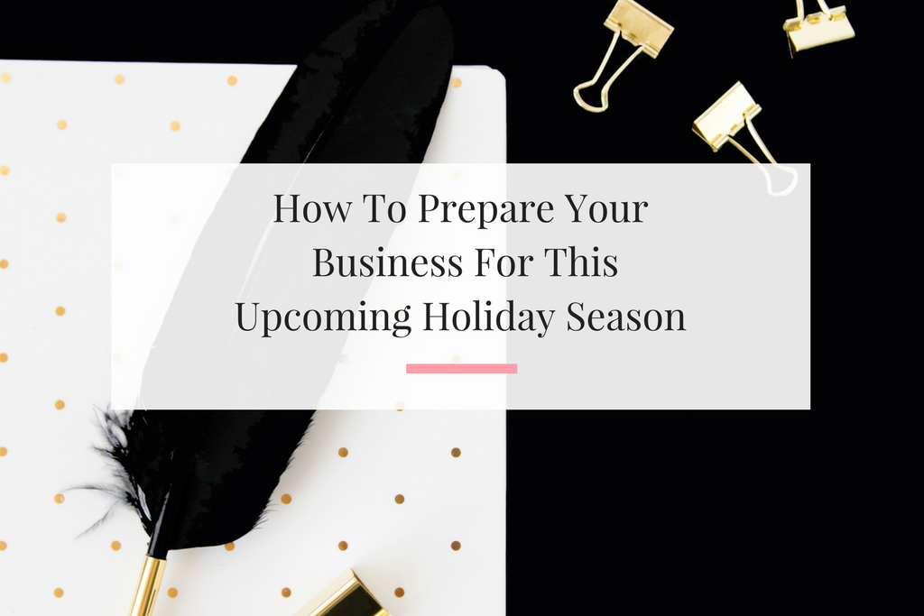 Getting your small business ready for holiday season in July.   Imperfect Concepts