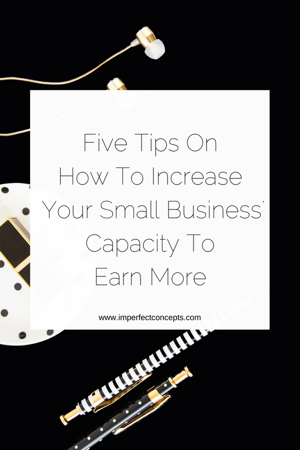 Breaking down simple ways you can help your business grow this year with these five tips. | Imperfect Concepts